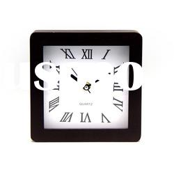 square shape clock,wooden clock ,table clock