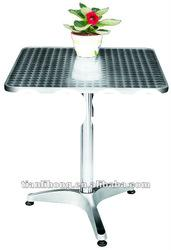stable outdoor square stainless steel cover aluminum table