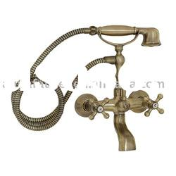 two handle antique Bronze Clawfoot Bath Tub Faucet Perrin and Rowe bath faucet