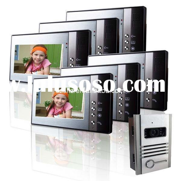 wholesales 7'' color wired video door phone and video intercom system