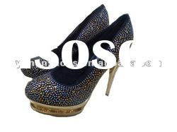 2012 the newest bright silver rhinestones high heel lady shoes