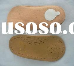 3/4 Leather Arch Support orthotic shoes Insoles
