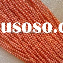 4MM Nature Loose Pink Round Coral Strand/Beads