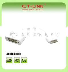 Apple iPad iPod iPhone Dock Connector to DVI Cable