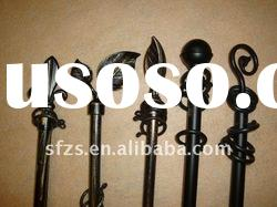 Decorative Curtain Rods with Aluminum-alloy Finials