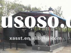 Environmental protection waste tyre & plastic fuel oil processing equipment