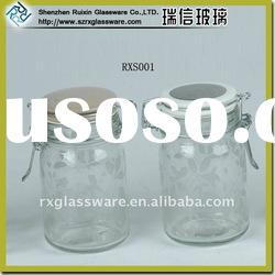Hot Sales Glass Food Jar with Sealed Clip Lid