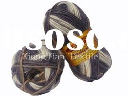 Knitting wool,printed 100%wool top dyed hand knitting felting yarn