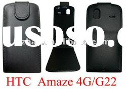 New shine leather case for HTC G22 Amaze 4G with hard case