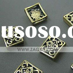 Tibetan Antique Silver Spacers Beads,Square,findings,lead free,15mm long,15mm wide,5mm thick
