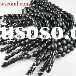Wholesale natural black coral prayer beads, black coral rosery