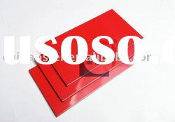 glossy red aluminium composite panel/acp