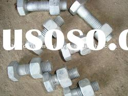hot dip galvanized bolts with nut