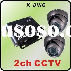 simple cctv dvr system with 2 cameras/use sd card save files/USB transmite files