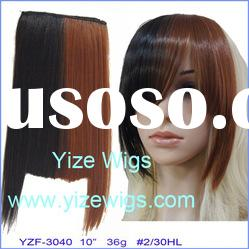 synthetic hair extension clip in hair bang YZF-3040 hair product