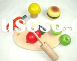 wooden educational artificial fruit toys cutting toys kitchen toys for children