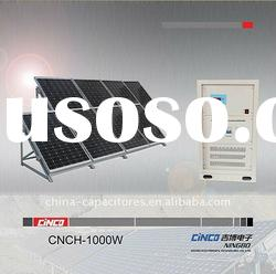 1000watt solar power system including solar panel,power inverter,controller,cable connector,mounting