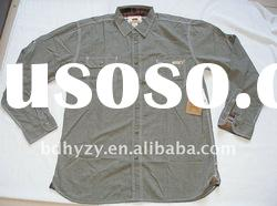 100% Cotton Mens Long Sleeve Chambray Shirt