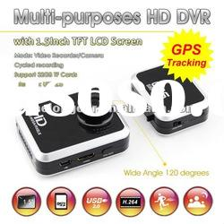 1.5 inch HDMI high definition vehicle dvr with gps