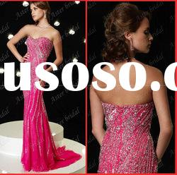 2010 top quality Latest style Exquisite beading evening dress,evening gown EG040
