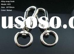 2011-6 zinc alloy snap hooks,carabiner,bag hooks,bag accessories,key ring