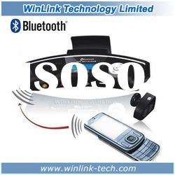 2011 hot selling bluetooth handsfree car kit with MP3 and phonebook + Wireless Earpiece