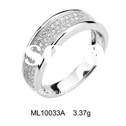 2012 Luxurious 925 sterling silver Micro pave setting engagement ring