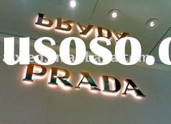 304# stainless steel backlit led channel letter sign