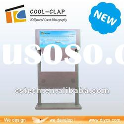 3D backgrounds touch screen photo printing kiosk machine
