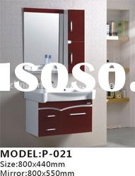800x440mm Modern PVC bathroom cabinets +mirror+WASHBASIN+medicine cabinet