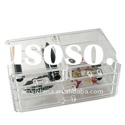 Acrylic 4 Drawer Storage Box / Clear Color Jewelry Organizer