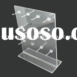 Acrylic display stand with hooks