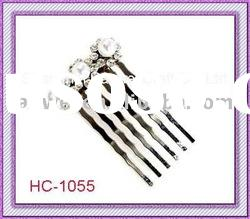 Alloy Hair Combs;Hair Barrettes;Hair Accessory;Rhinestone Clip