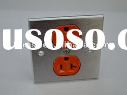 Aluminum Alloy AC Power Conditioner Wall Plate Orange Hospital Grade NEW