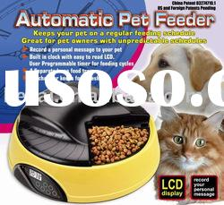 Automatic Pet Bowl,Automatic Pet Feeder, 4 Meals Tray Pet Feeder, Cat Dog Food Feeder