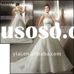 BRD174 Factory Outlet 2012 Beautiful Exquisite Ruffle Different Fashion A-line Organza Wedding Dress