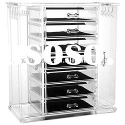Best seller acrylic clear organizer drawer display with many layers