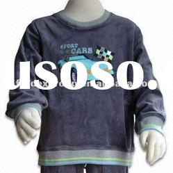 Boys' T-shirt with Long Sleeves, Made of Cotton and Polyester