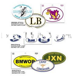 Bumper sticker Car sticker promotion sticker printing label decal