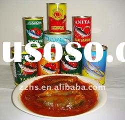 Canned Sardine Fish in Tomato Sauce with chili 155g 425g