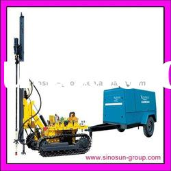 Drilling Rig machine with air compressor