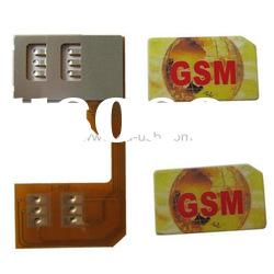 Dual SIM Card Adapter for GSM Mobile Phone