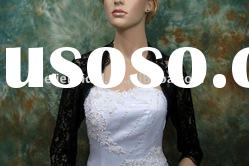 Fashion Black Lace Beads wedding jacket/bolero