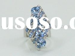 Fashion blue sapphire diamond rings