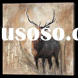 Fine art Animal oil painting abstract for home decoration