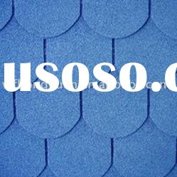 Fish-scale asphalt roofing tiles(harbor blue)
