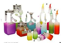 Glass Storage Bottles & Jars and Glass Condiment Set