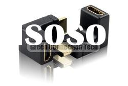 HDMI Male to Female right angle Adapter--Down