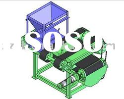 High intensity dry magnetic separator for ore beneficiation