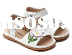 Hot selling white daisy baby kid shoes, toddler shoes SQ-LG65001-WH